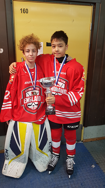 Dylan and Tyler, KPS Ice Hockey Players