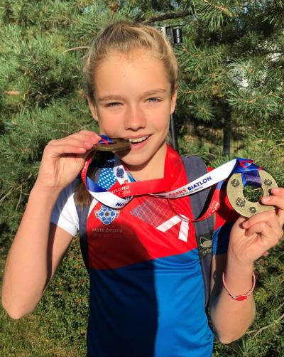 Biathlon achievement of KPS pupil Adela
